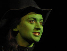 "Felicia Ricci as Elphaba in ""Wicked"""