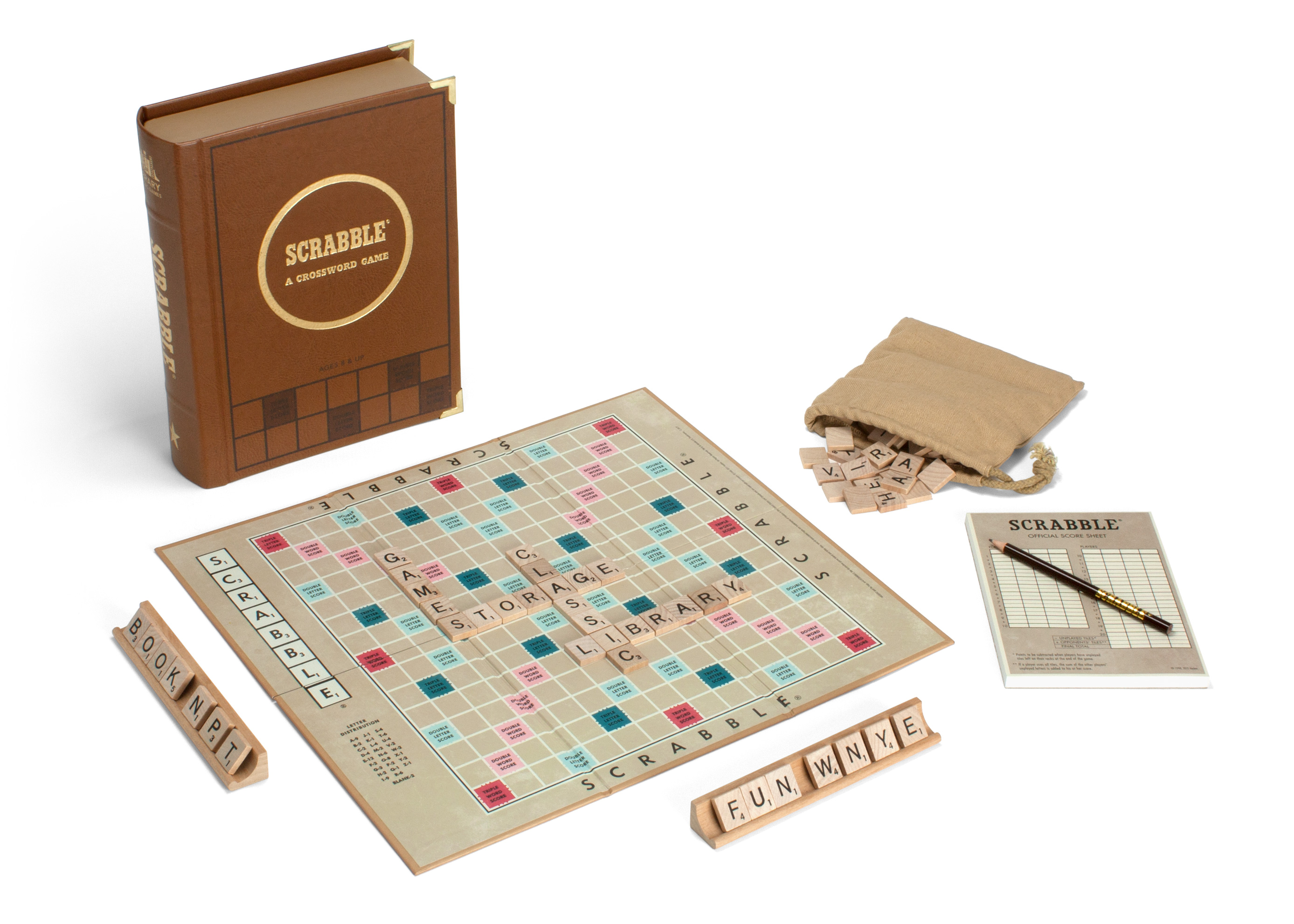 Scrabble library classic collectors edition special game free.