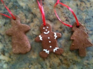 Handmade Cinnamon Applesauce Ornaments