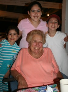 Grandma Grello and the girls