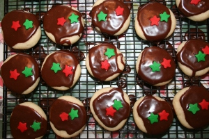 Brown Eyed Susans for Christmas Cookie Trays