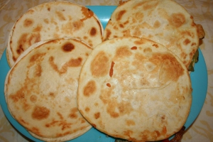 finished quesadillas