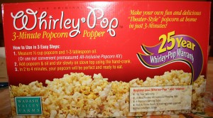 Whirly Pop Three minute popcorn maker