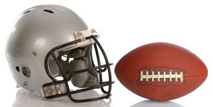 Football Helmet and Football