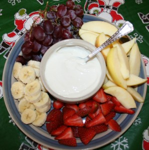 Sour cream dip for fruit.