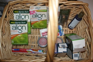 Medicine and makeup basket