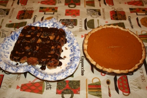 Monkey bread and pumpkin pie for dessert!