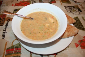 This soup was hearty and delicious and everyone in our family gave it a thumbs up!