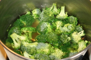 I used fresh broccoli for my soup.