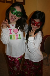 The simplest things, like these Mardi Gras masks can provide hours of fun on a week like this one!