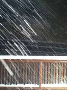 Snowing sideways on Friday night. 75 mph winds.