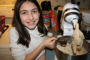 Elizabeth was so excited to be the kid in the kitchen this time around!