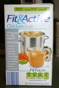 I keep a lot of the Aldi's Fit and Active chicken broth on hand. They also sell vegetable broth.