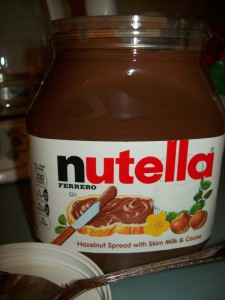 Nutella is not new, but there's this great little treat that I make with it, which I'm addicted to!