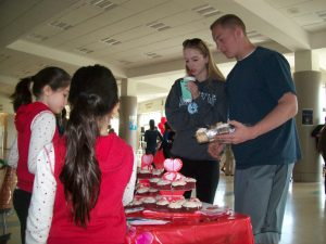 Utilizing those cookie selling skills from Girl Scouts!