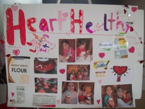 Our poster showed people the things we'd done to healthify our cupcakes.