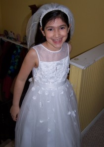 Alexandra had a perfect day for her First Communion on Saturday.