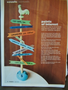 I found this cool project in Family Fun magazine, that I just had to replicate for Alex's walls.
