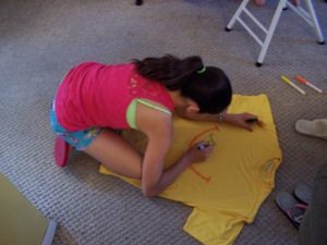 T-Shirt decorating time!