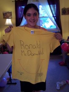 Caroline's shirt