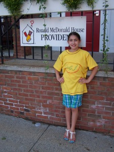 Elizabeth couldn't wait for a chance to help out the Ronald McDonald House in Providence.