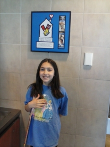 We kicked off our party planning and shopping with a visit to McDonalds where Elizabeth got her color scheme inspiration and took a photo with the RMH Helping Hands.