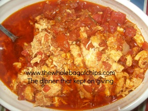 Chicken Tacos in the crock pot was one of our favorite meals last week!