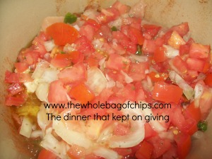 I made due with what I had to make the fresh Pico de Gallo and it was amazing.