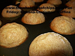 These muffins were fabulous as an after school snack one fall afternoon!