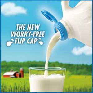 Have you seen it yet? Dairy Pure Milk has a great new flip cap!