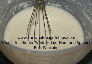 Simple ingredients make this pancake easy to prepare.