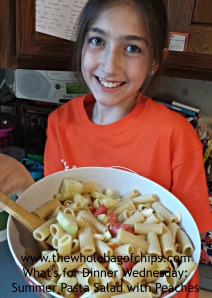 Even though initially she thought this salad didn't sound appealing at all, she was my biggest helper and biggest fan of the recipe at mealtime!