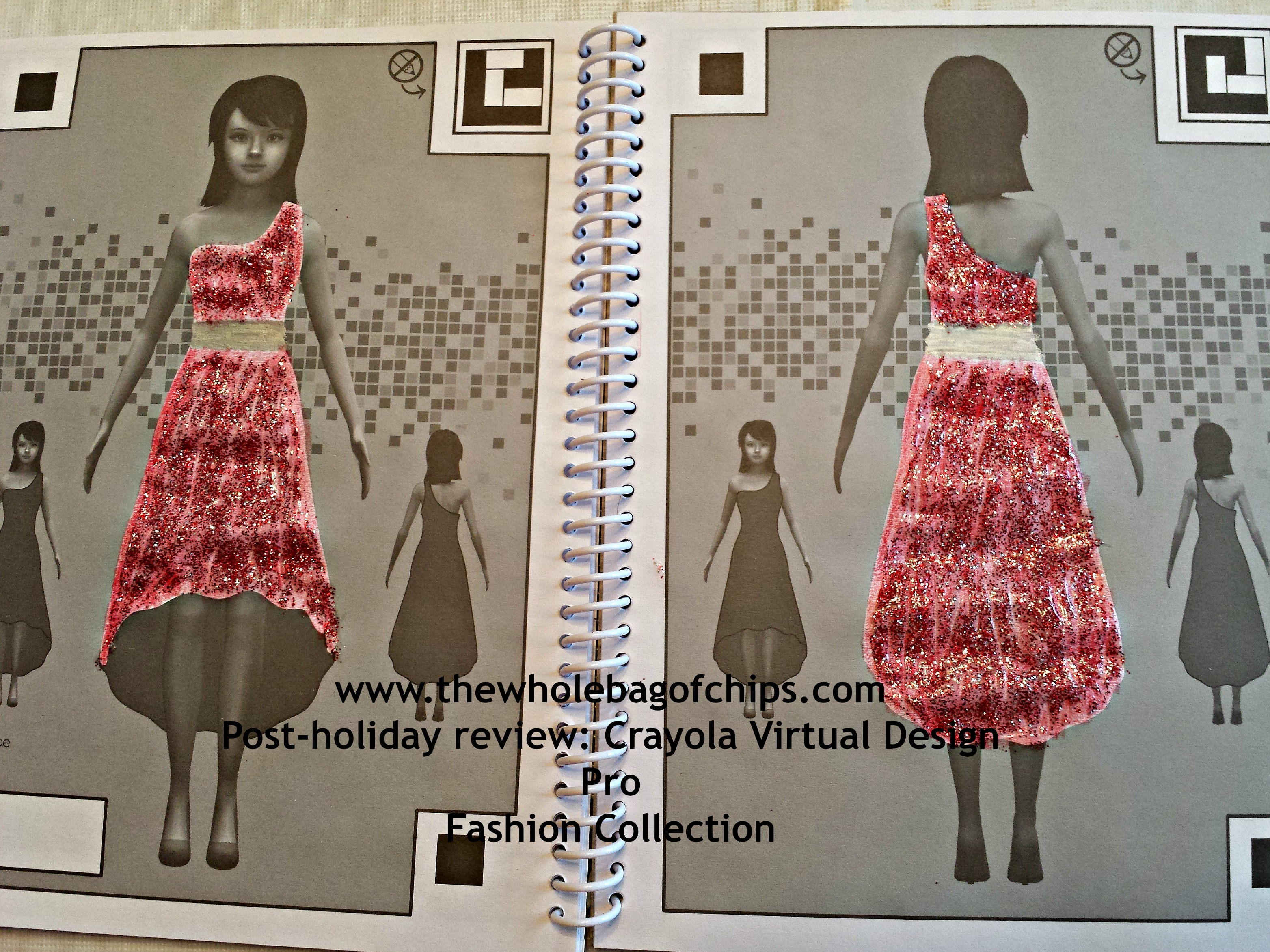 Crayola My Virtual Fashion Show Designing on paper is only the