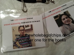 Just for fun, as a thanks for helping out, I created official passes for my older girls to use that night at the party.