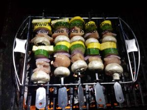 Having the skewers up off the flames was a huge benefit to this kabob set.