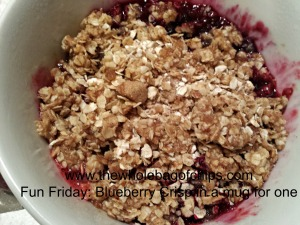 I loved this fruit crisp recipe from Rumble in the Kitchen!