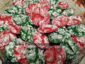 Red and green crinkle cookies were new for me this year and I wanted everyone to be able to enjoy them.