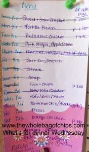 We cross off as we go, rearrange if we have to, and the kids put future meal ideas at the bottom, even on the messy list weeks. It gives us a head start for the next time around.