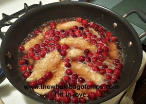 One of my favorite fall meals ever: Cranberry Chicken