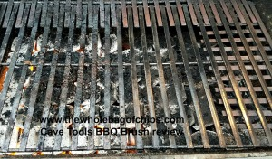 Looking at the newly cleaned right side of the grill versus the uncleaned left side, you can see what an amazing job the BBQ brush did!