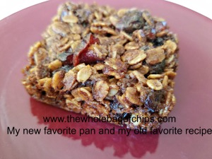 These granola bars were the best ones I'd ever made, thanks to my new pan.