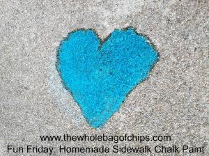 Sidewalk chalk with a twist....paint!